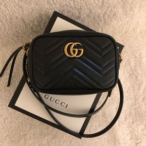 Gucci Marmont Matelassé Mini Bag (100% Authentic)